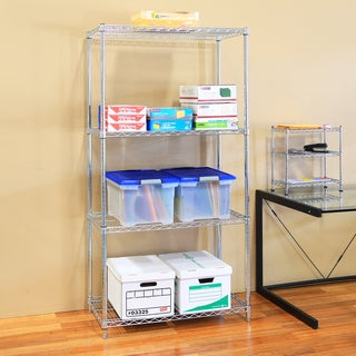 Seville Classics UltraZinc Silver Steel Wire Shelving Unit