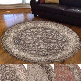 Admire Home Living Gallina Animal Print Area rug (5'3 Round)