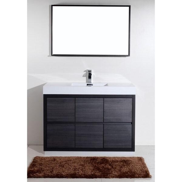 Shop Kubebath Bliss 48 Inch Single Sink Bathroom Vanity