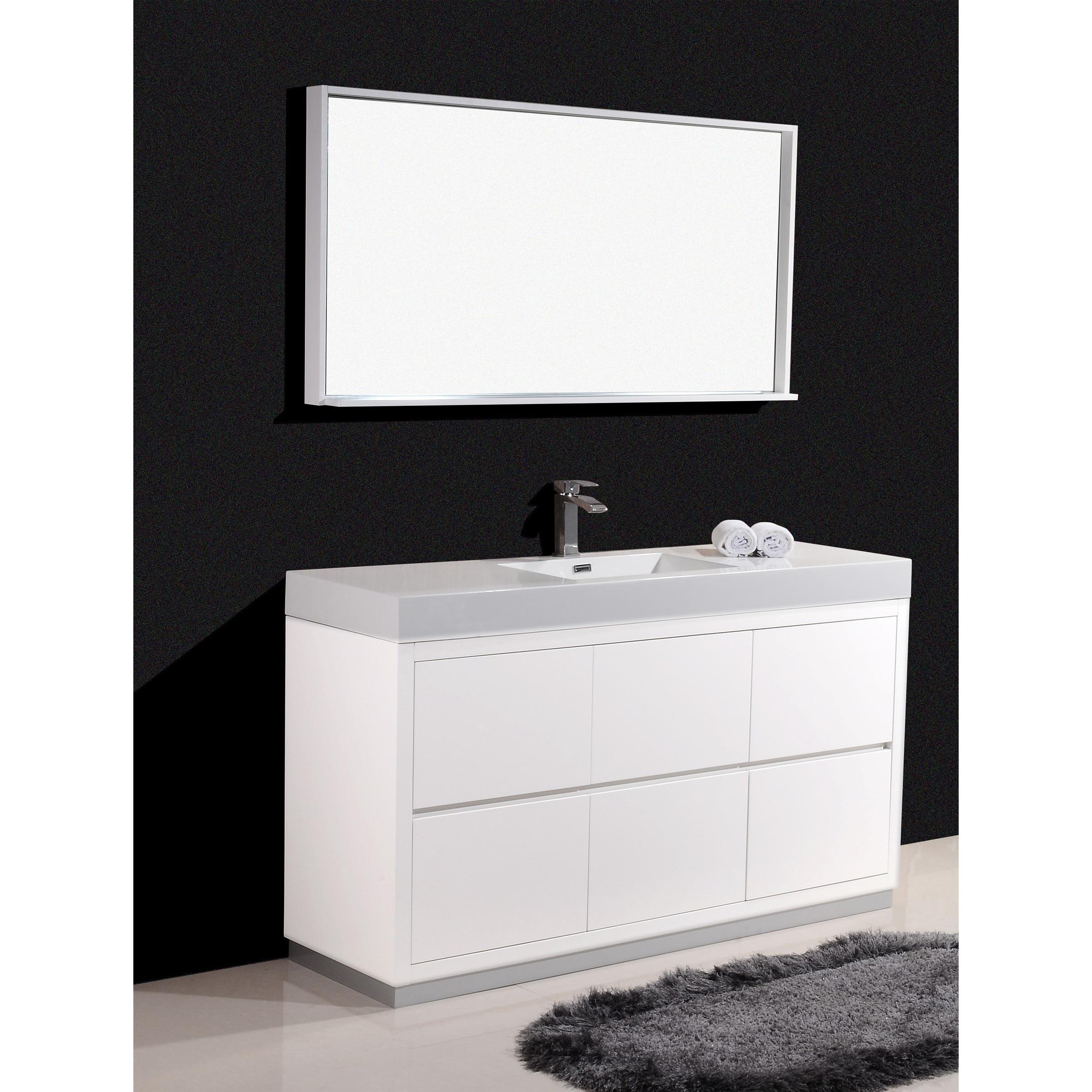 KubeBath Bliss 59 Inch Single Sink Bathroom Vanity (3 Options Available)