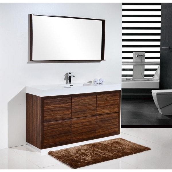 Kubebath Bliss 59 Inch Single Sink Bathroom Vanity