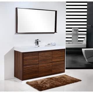 bathroom single sink vanity cabinet. KubeBath Bliss 59 inch Single Sink Bathroom Vanity 51 60 Inches Vanities  Cabinets For Less