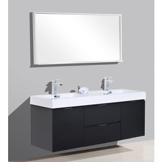 KubeBath Bliss 59-inch Double Sink Bathroom Vanity