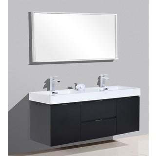 KubeBath Bliss 59-inch Double Sink Bathroom Vanity