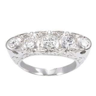 18K White Gold 1 3/4ct TDW 5-stone Estate Ring (H-I, SI1-SI2)