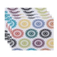 18 x 14-inch Groovy Geometric Print Placemat (Set of 4)