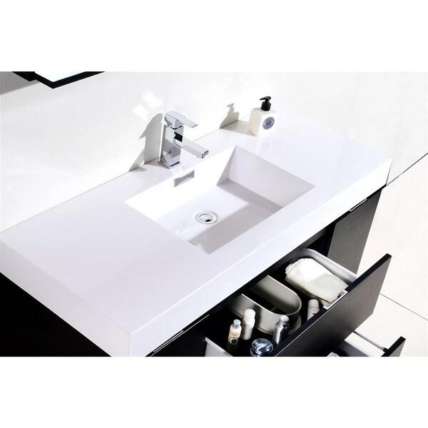 KubeBath Bliss 48 inch Single sink Bathroom Vanity   Free Shipping Today    Overstock com   18807448KubeBath Bliss 48 inch Single sink Bathroom Vanity   Free Shipping  . 34 Bathroom Vanity. Home Design Ideas