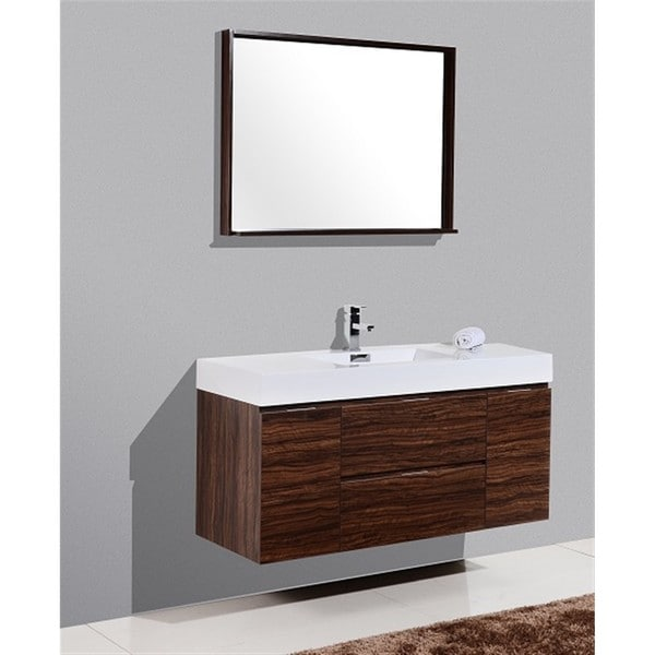 Shop KubeBath Bliss Inch Singlesink Bathroom Vanity Free - Bathroom vanities 48 inch single sink