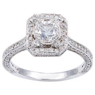 Platinum 2ct TDW Antique Engagement Ring (H-I, I1-I2)