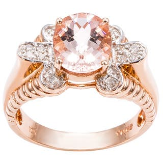 10k Pink Gold 1/7ct TDW Diamond and Pink Topaz Cocktail Ring (J-K, I1-I2)|https://ak1.ostkcdn.com/images/products/11916089/P18807475.jpg?impolicy=medium