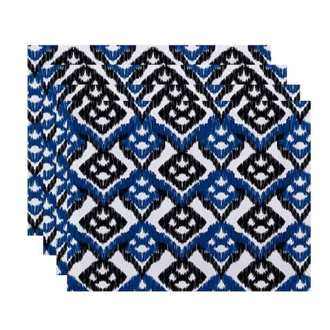 18 x 14-inch Hipster Geometric Print Placemat (Set of 4)