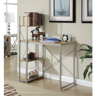Convenience Concepts Designs2Go Natural Wood/Metal Office Work Station