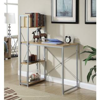 Convenience Concepts Designs2Go Natural Wood/Metal Office Workstation Desk