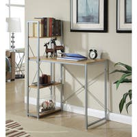 Convenience Concepts Designs2Go Natural Wood/Metal Office Workstation Desk