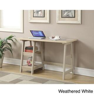 Clay Alder Home Logan Wood Desk (Option: Weathered White)