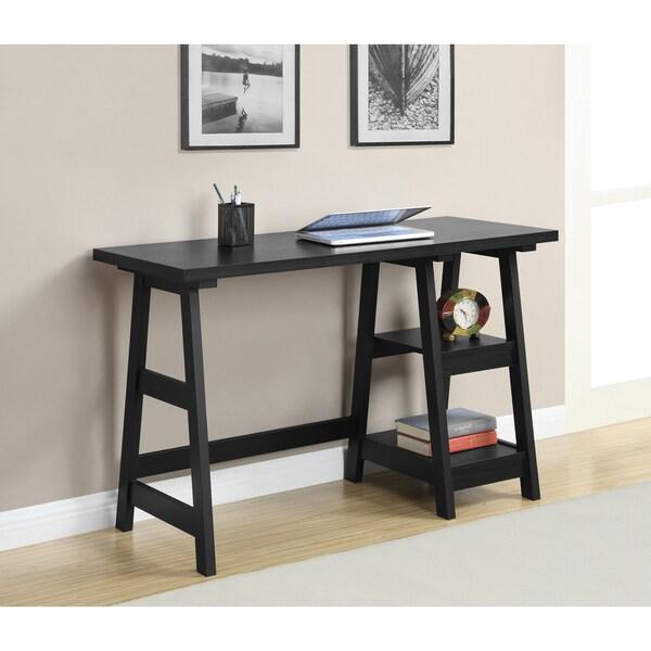 Convenience Concepts Designs2go Trestle Oak Black White