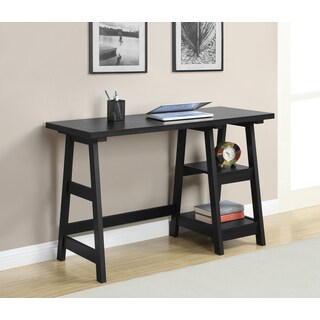 Convenience Concepts Designs2Go Trestle Oak/Black/White/Espresso/Cherry/Off-white Wood Desk
