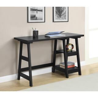 Convenience Concepts Designs2Go Trestle Wood Desk. Desks   Computer Tables For Less   Overstock com