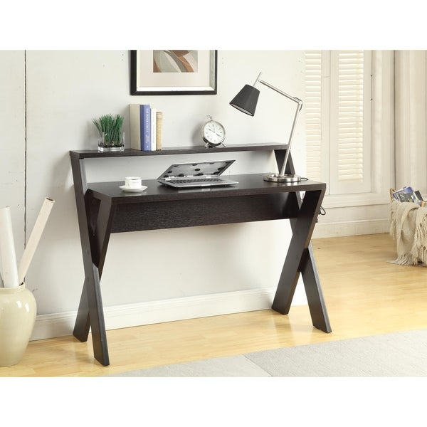 Shop Convenience Concepts Newport Espresso Wood Desk With