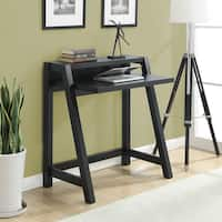 Convenience Concepts Newport Lilly Black or White Wood Desk