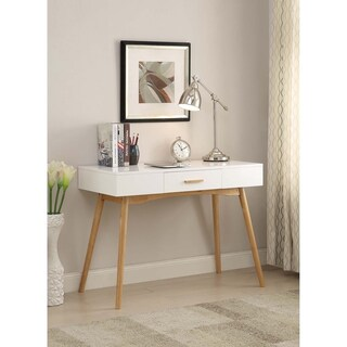 Convenience Concepts Oslo Wood 1-drawer Desk (Option: White - White Finish)