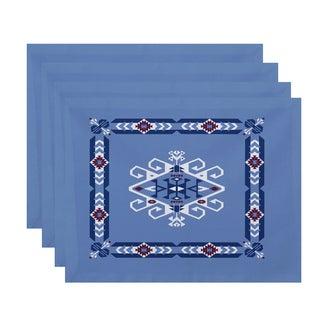 18 x 14-inch Jodhpur Border 3 Geometric Print Placemat (Set of 4)
