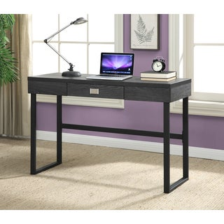 Convenience Concepts Northfield Grey/Espresso Wood/Metal Desk With Drawer