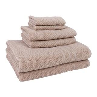 Laguna Solid-color Cotton 6-piece Quick-dry Towel Set