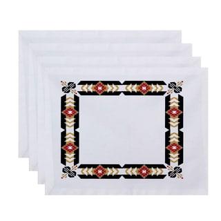 18 x 14-inch Jodhpur Border Geometric Print Placemat (Set of 4)