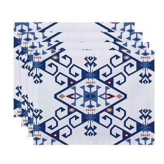 18 x 14-inch Jodhpur Medallion 2 Geometric Print Placemat (Set of 4)