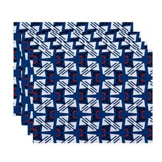 18 x 14-inch Jodhpur Ditsy Geometric Print Placemat (Set of 4)