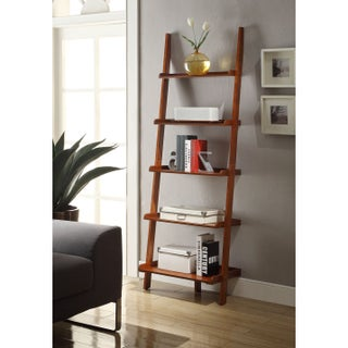 Porch & Den Bywater Villere Ladder Bookshelf (Option: Cherry)