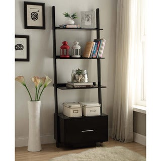 Convenience Concepts American Heritage Ladder Bookcase w/ File Drawer