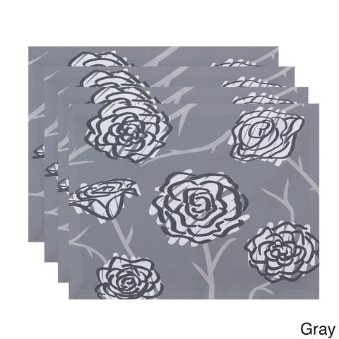 18 x 14-inch Spring Floral 2 Floral Print Placemat (Set of 4)