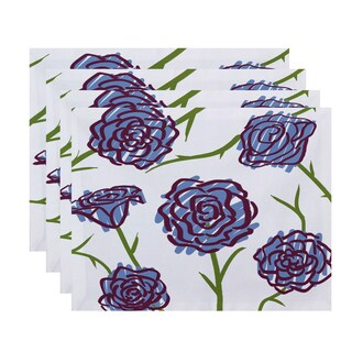 18 x 14-inch Spring Floral 1 Floral Print Placemat (Set of 4)