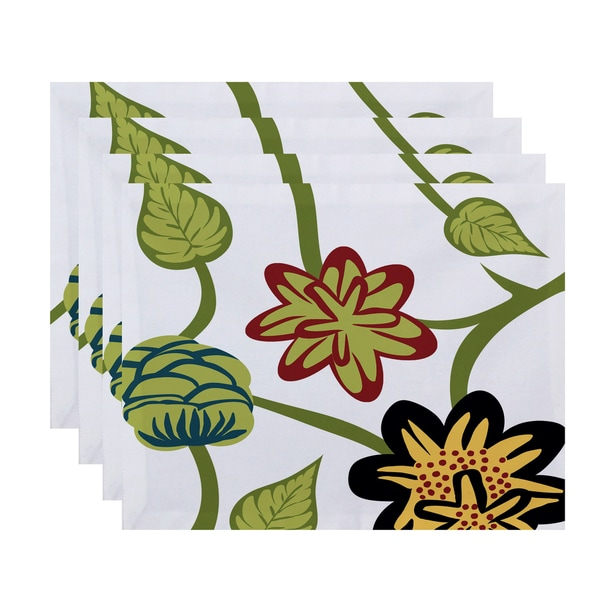 18 x 14-inch Tropical Floral Floral Print Placemat (Set of 4)