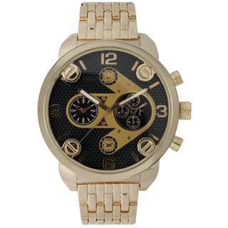 Olivia Pratt Men's Arrow Decorative Chronograph Alloy Watch