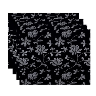 18 x 14-inch Traditionalal Floral Floral Print Placemat (Set of 4)