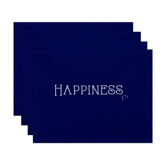 18 x 14-inch Happiness Word Print Placemat (Set of 4)