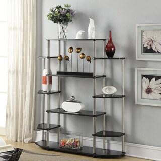Convenience Concepts Designs2Go Black Wood/Steel Wall Unit Bookshelf