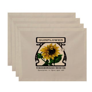 18 x 14-inch Sunflower Floral Print Placemat (Set of 4)