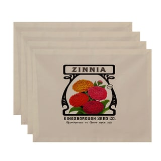 18 x 14-inch Zinnia Floral Print Placemat (Set of 4)