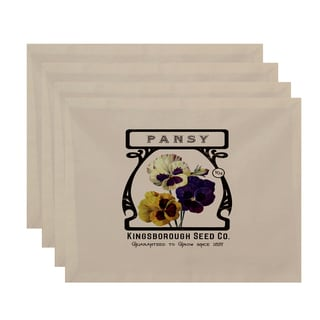 18 x 14-inch Pansy Floral Print Placemat (Set of 4)