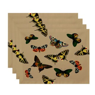 18 x 14-inch Butterflies Animal Print Placemat (Set of 4)