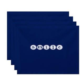 18 x 14-inch Smile Word Print Placemat (Set of 4)