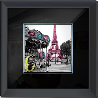 Benjamin Parker 'Pink Eiffel' 24-inch x 32-inch Tempered Glass Wall Art