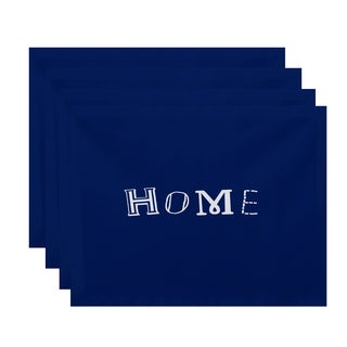 18 x 14-inch Home Word Print Placemat (Set of 4)
