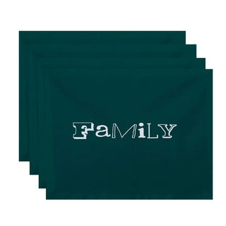 18 x 14-inch Family Word Print Placemat (Set of 4)
