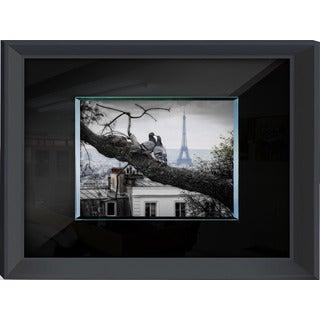 Benjamin Parker 'Love Birds' 24-inch x 32-inch Tempered Glass Art