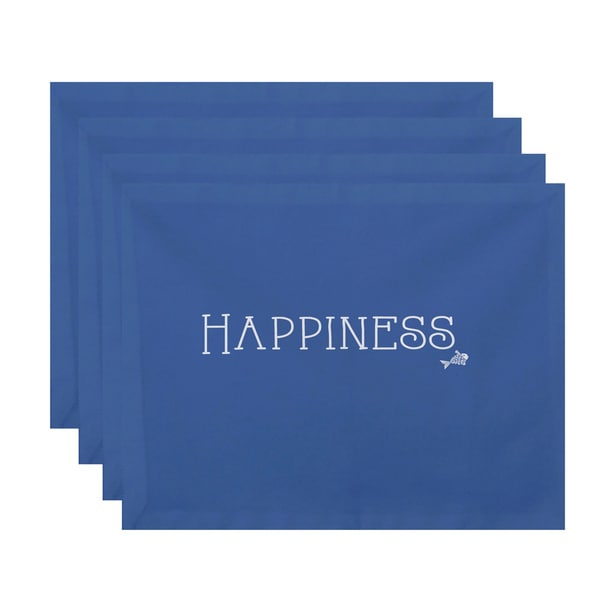 18 x 14-inch Coastal Happiness Word Print Placemat (Set of 4). Opens flyout.